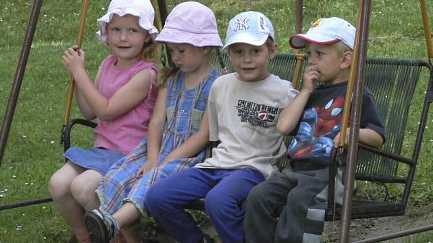 Děti z mateřinky v Horní Plané.