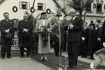 Při návštěvě Vyššího Brodu si Edvard Beneš našel čas i na promluvu k místním občanům.
