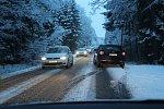 Takto to dnes ráno vypadalo na silnicích Kaplicka. A to u Kaplice na E 55, v Rožmitále a Omlenici i Omleničce.