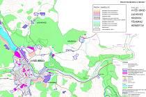 Mapa, do které občané zakreslovali své návrhy