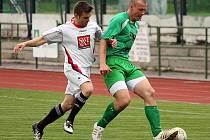Fotbalové utkání A skupiny oblastní I. B třídy / FK Slavoj Český Krumlov B - SK Jankov B 7:0 (3:0).