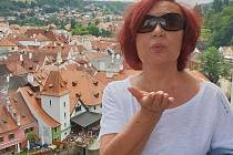 Zpěvačka Petra Janů v Českém Krumlově.