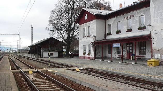 Místo středeční tragédie - velešínské vlakové nádraží.