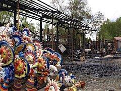 Požár na vietnamské tržnici v Kaplici.