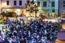 Slavnostní zahájení adventu a rozsvícení stromu v Českém Krumlově.