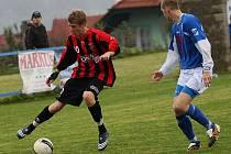 Fotbalové utkání A skupiny oblastní I. A třídy / FC Šumava Frymburk - SK Otava Katovice 0:1 (0:1).