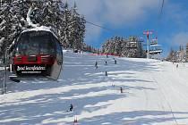 Skiareál na rakouském Sternsteinu.