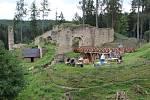 Dožínkovou slavnost si v sobotu užili návštěvníci hradní zříceniny v Pořešíně u Kaplice.