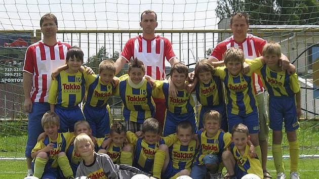 Vítěz okresního fotbalového přeboru 2010/11 kategorie přípravek - TJ Smrčina Horní Planá.