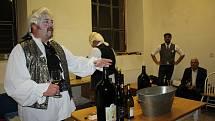 Degustace vín čtyř zemí v ateliérech Egon Schiele Art Centra v Českém Krumlově.