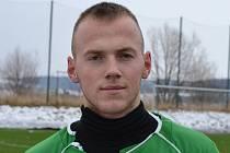 Exhlubocký střelec Tomáš Tauber při druhém startu v krumlovském dresu navlékl poprvé kapitánskou pásku a zaznamenal první hattrick.