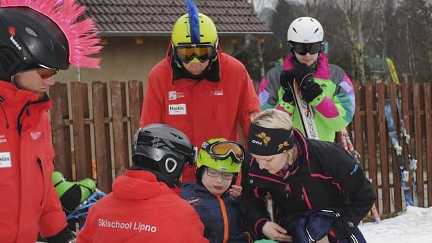 První lyžařský kurz dětí z Arpidy na Lipně.