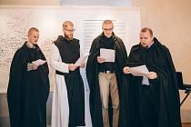 Vernisáž nové výstavy Ve znaku lilie a růže ve vyšebrodském klášteře.