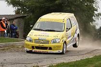 Jiří Sojka (na snímku z Rally Příbram) se na startu jednodenního rallysprintu objeví letos teprve podruhé. S Jaroslavem Kaločaiem dojeli v Pačejově třetí ve třídě.