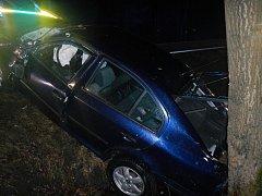 Úterní nehoda v Kaplici Nádraží.