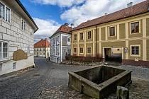 Plešivecké náměstí v českém Krumlově.