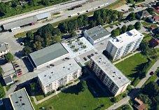 Vizualizace nové podoby náměstíčka krumlovského sídliště Za Nádražím.