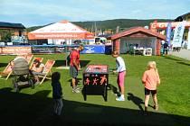 Na lipenské pláži vypukl Lipno Sport Fest 2019.