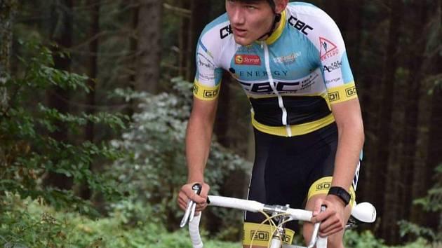 NADĚJNÝ biker z Českého Krumlova Tomáš Lolacher.