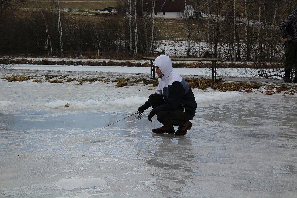 Lov na dírkách v Pstruhařství Hůrka, kde mají i svou rybí líheň.