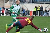 Krumlovský útočník David Růžička se postaral ve Strakonicích o vedoucí gól svého týmu, který zvítězil 2:0.
