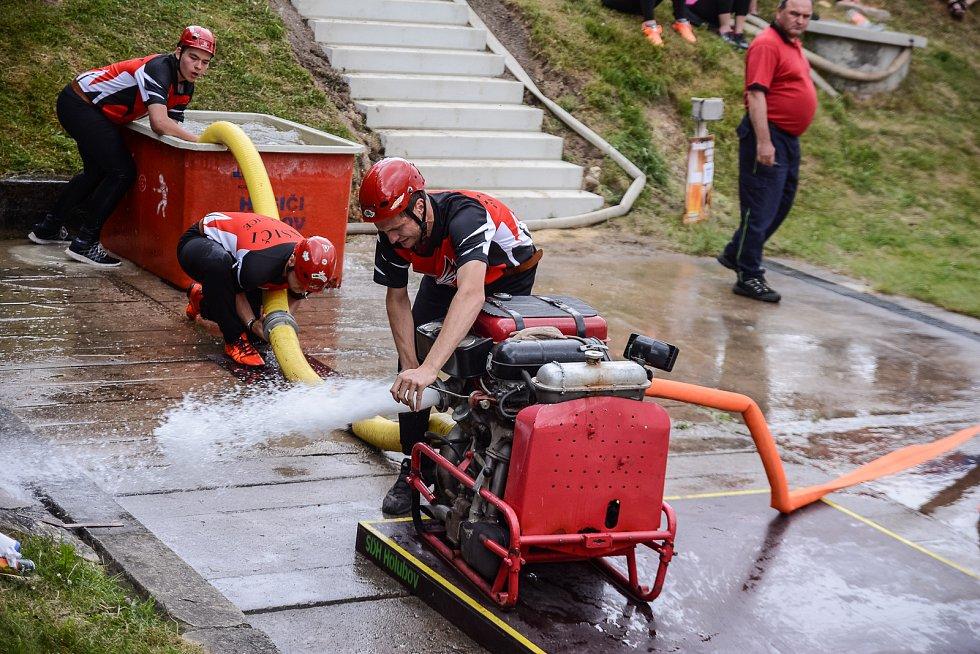 Velká cena Č. Krumlova a jihočeské hasičské ligy pokračovaly v neděli v Třísově.
