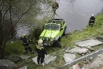 Páteční autonehoda přímo ve Vyšším Brodě.