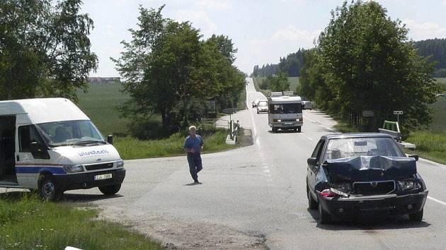 Nehoda u Dolního Třebonína.