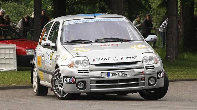 Milan Jirka a Pavel Kacerovský (na snímku z Rallye Český Krumlov) letos bodovali pouze v Lužických horách a ve třídě N3 jsou průběžně čtvrtí. V Trutnově změří síly s osmi soupeři.