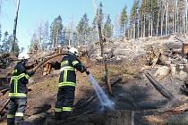 Příkladem nezvládnutého pálení malého rozsahu je i požár ve Slepičích horách u Besednice, který hasiči v roce 2009 likvidovali dva dny.
