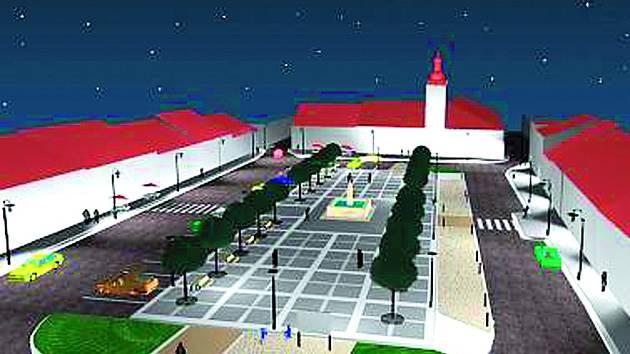 Budoucí podoba náměstí v Kaplici.