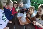 Malí vědci na letním táboře.