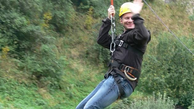 Jednou z největších atrakcí Svatováclavských slavností se stala lanová dráha.