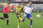 I.A třída (skupina A) – 5. kolo (4. hrané): FK Vodňany (bílé dresy) – FK Spartak Kaplice 2:5 (1:2).