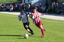Fotbalové utkání okresního přeboru mužů / FC Velešín - FK Nová Ves-Brloh 0:1.