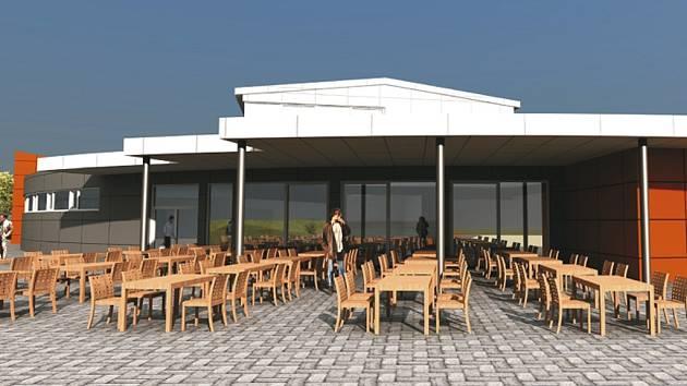 Budoucí kulturně sportovní centrum v Dolním Třeboníně.