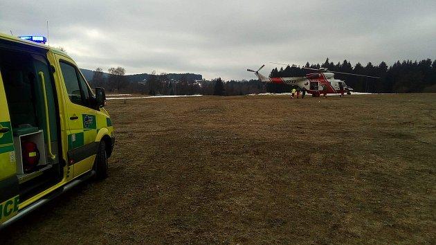 Helikoptéra letěla na pomoc dalšímu dítěti na Kramolíně