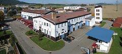 Areál požární stanice Hasičského záchranného sboru Český Krumlov v Domoradicích.