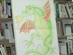 V oddělení pro děti Městské knihovny Český Krumlově měli v pátek napilno, děti se učily kreslit draka od slavného ilustrátora.