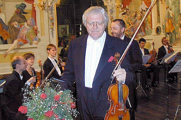 Prezident českokrumlovského festivalu komorní hudby Mistr Josef Suk.