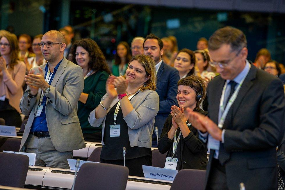 Předávání ceny Evropské komise v oblasti udržitelné energetiky v Bruselu.
