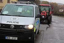 Polici ráno šetřila nehodu, která se stala na křižovatce v Kájově.