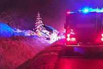 Havárie autobusu u Kaplice.