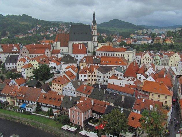Město Český Krumlov.