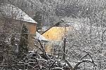 Zasněžené sobotní ráno na Krumlovsku.