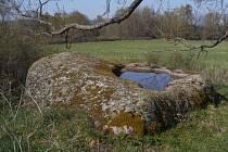 Vodní kámen u Cetvin.