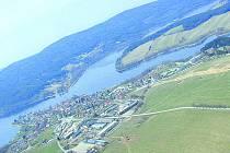 Ilustrační foto: Frymburk - letecký snímek.