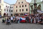 V Českém Krumlově se za nezávislou justici a proti premiérovi demonstrovalo už počtvrté.