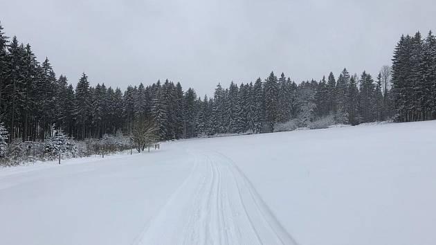 231eabda2d4 Frymburk a Lipno hlásí přes dvacet kilometrů bílé stopy
