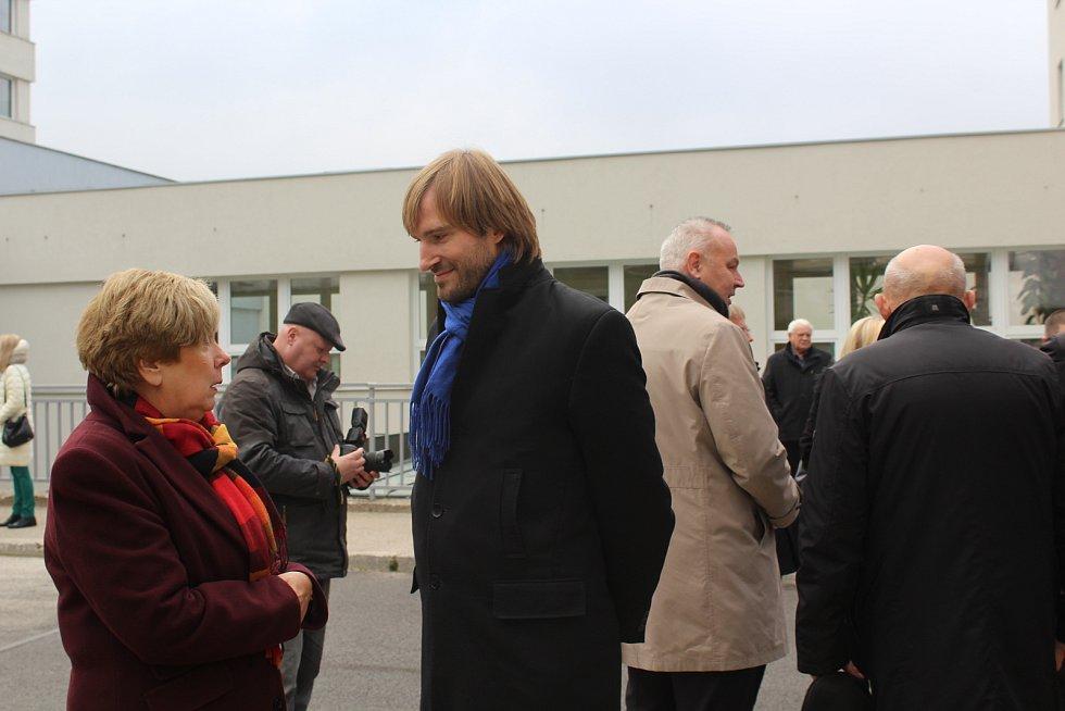 Ministr zdravotnictví Adam Vojtěch s jihočeskou hejtmankou Ivanou Stráskou.